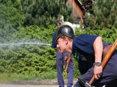 Zásah historické hasičské stříkačky